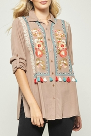 Andree by Unit Embroidered Tunic Blouse - Front cropped