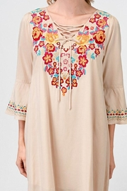Andree by Unit Embroidered Tunic Dress - Product Mini Image