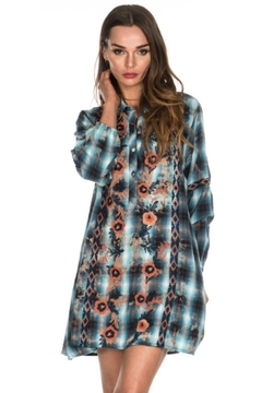Tolani Embroidered Tunic Dress - Alternate List Image