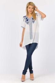 Apparel Love Embroidered Tunic Tee - Product Mini Image