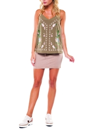 Dex Embroidered V-Neck Cami - Product Mini Image