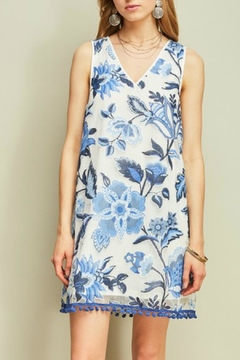 Entro Embroidered v-Neck Dress - Alternate List Image