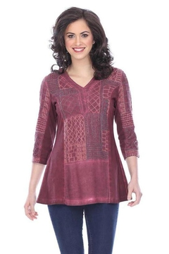 Shoptiques Product: Embroidered V-Neck Tunic