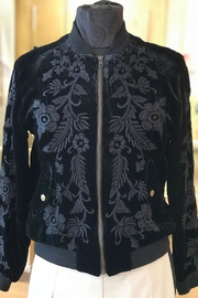 Johnny Was Embroidered Velvet Bomber - Product Mini Image
