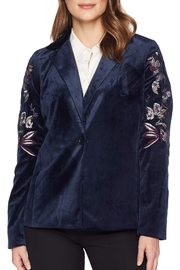 Tribal Embroidered Velvet Jacket - Product Mini Image