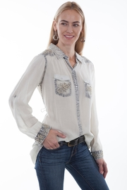 Scully Embroidered Vintage Shirt - Product Mini Image