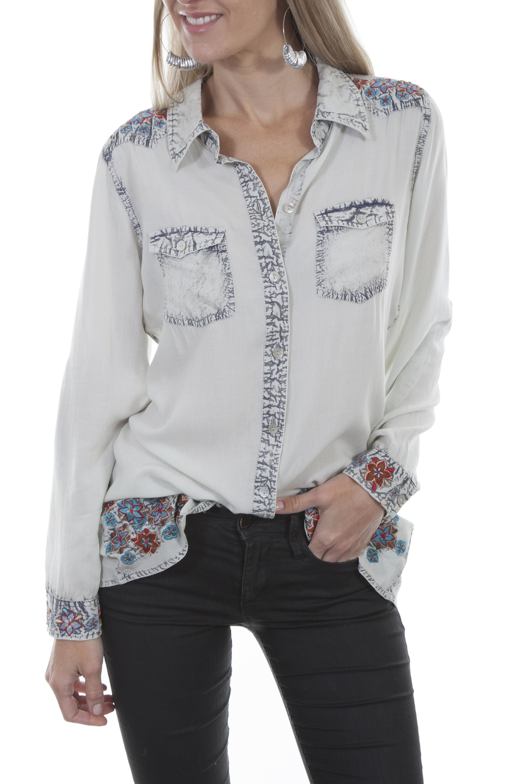 Scully Embroidered Western Shirt - Main Image