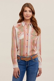 Wrangler Embroidered Western Snap-Up - Front cropped