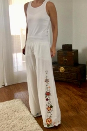 Monoreno Embroidered White Pants - Product Mini Image