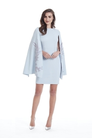 Alberto Makali Embroidered Winged-Sleeve Dress - Front cropped