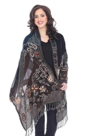 Parsley & Sage Embroidered Wool Shawl - Product Mini Image