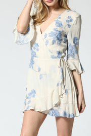 FATE by LFD Embroidered wrap dress - Front full body