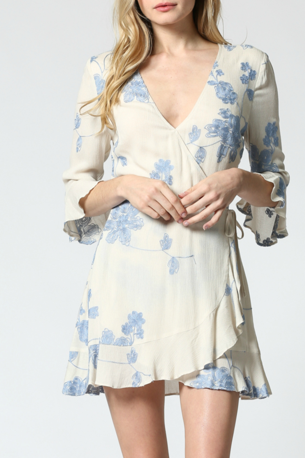 FATE by LFD Embroidered wrap dress - Main Image