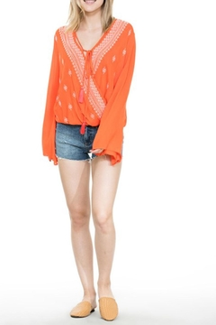 Shoptiques Product: Embroidered Wrap Top