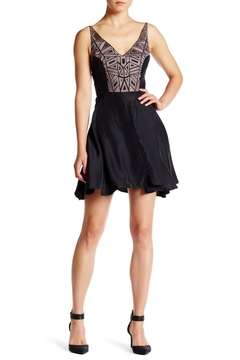 Amanda Uprichard Embroidered X-Back Dress - Product List Image