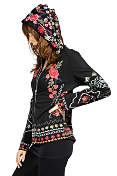 Adore Apparel Embroidered Zip Hoodie - Product List Image
