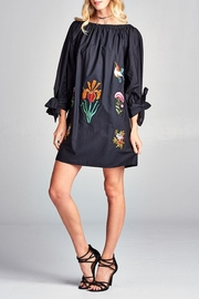 Velzera Embroidery-Accent Tie-Sleeve Tunic - Product Mini Image
