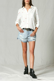By Together Embroidery all over button down top - Front cropped