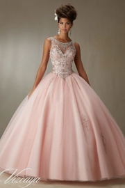 Morilee Embroidery and Beading on a Tulle Ball Gown Quinceañera Dress - Product Mini Image