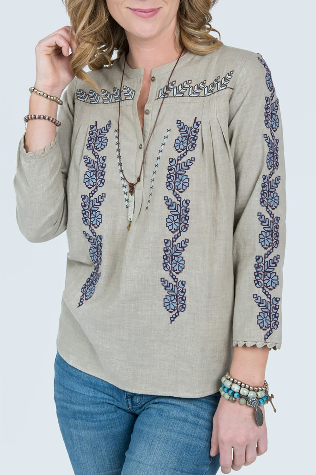 Ivy Jane Embroidery Button Top From Dallas By Hip Chic Boutique