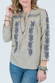 Ivy Jane Embroidery Button Top - Front cropped