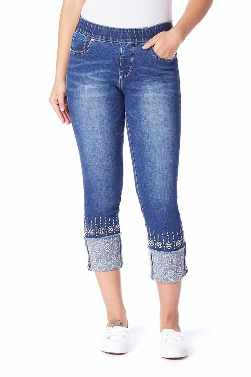JAG Jeans Embroidery Cuff Jeans - Main Image