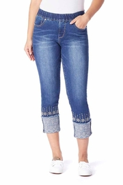JAG Jeans Embroidery Cuff Jeans - Product Mini Image