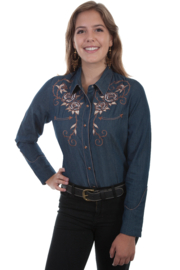 Scully  Embroidery Denim Shirt - Product Mini Image