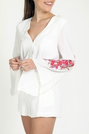Very J Embroidery Detail Romper - Product Mini Image