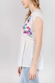 See & Be Seen Embroidery Detail Top - Front full body