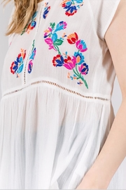 See & Be Seen Embroidery Detail Top - Side cropped