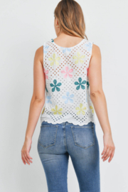 Lyn -Maree's Embroidery Floral Top - Front full body