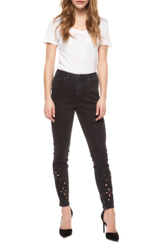 Shoptiques Product: Embroidery Hem Super Skinny Jean