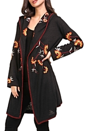 Adore Embroidery Hoodie Cardigan - Front cropped