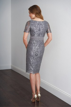 Black Label Embroidery Lace & Lace with Stretch Lining MOB Dress - Alternate List Image