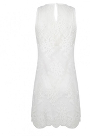EsQualo Embroidery Mesh Dress - Front full body