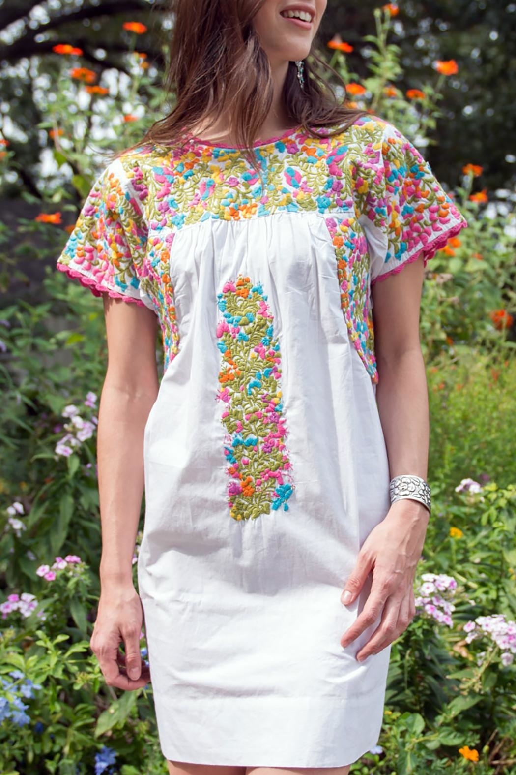 Sister Mary Embroidery Mexican Dress From Dallas By Hip Chic