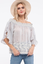 Moon River Embroidery Off The Shoulder Top - Product Mini Image