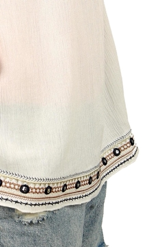 POL Embroidery Ruffled-Sleeve Top - Alternate List Image
