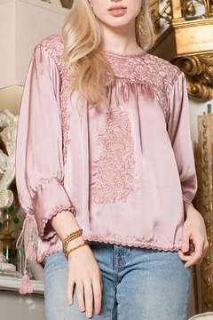 Shoptiques Product: Embroidery Satin Top