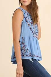 Umgee USA Embroidery Tank - Front full body