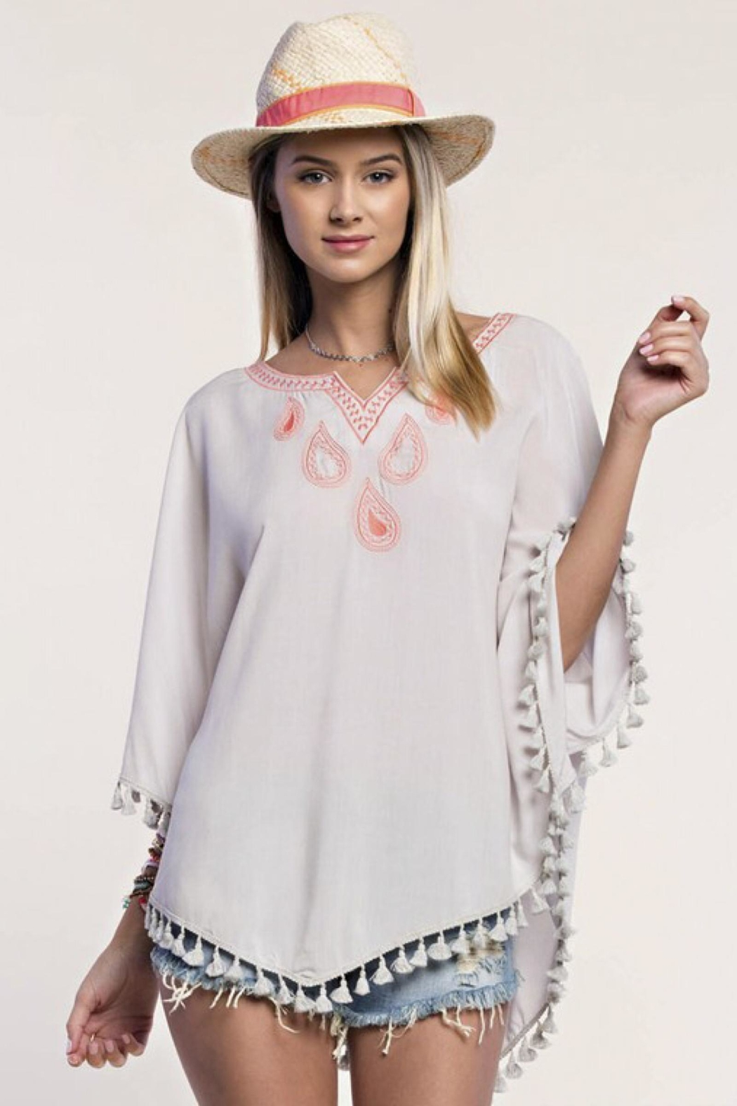 People Outfitter Embroidery Tassels Top - Main Image