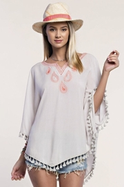 People Outfitter Embroidery Tassels Top - Front cropped