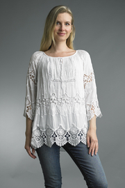 Tempo Paris  EMBROIDERY TOP - Product Mini Image