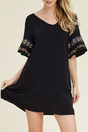 Riah Fashion Embroidery Tunic Dress - Product Mini Image