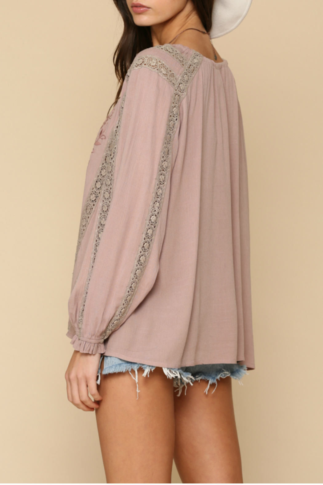 By Together  Embroidery  tunic top - Front Full Image