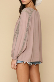 By Together  Embroidery  tunic top - Front full body