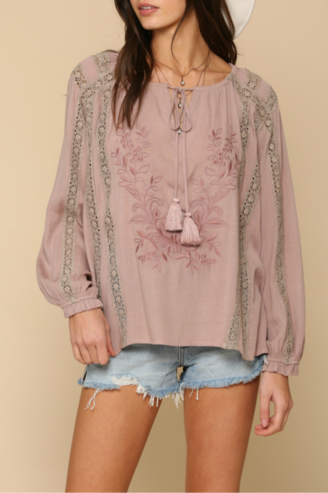 By Together  Embroidery  tunic top - Main Image
