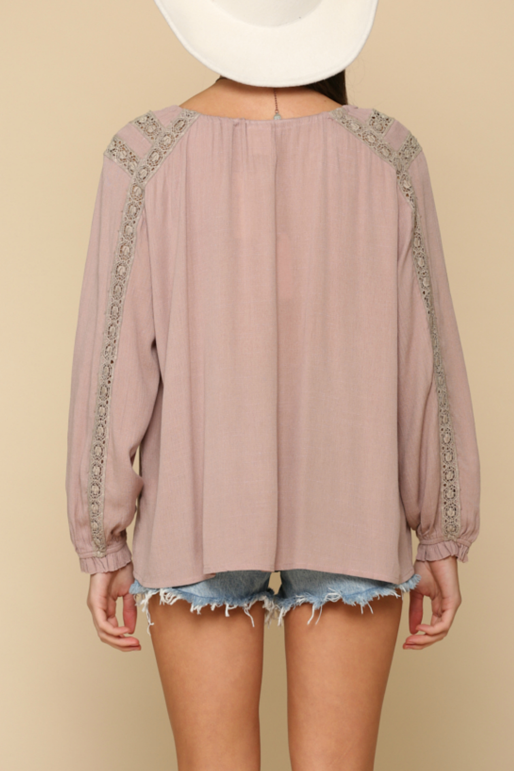 By Together  Embroidery  tunic top - Side Cropped Image