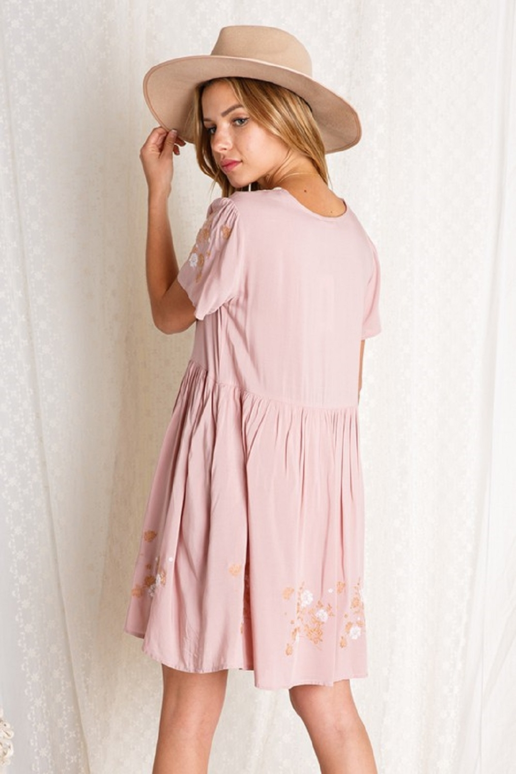 BaeVely Embroiled Dress - Back Cropped Image
